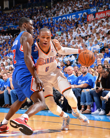 2014 NBA Playoffs Game 2: May 7, Los Angeles Clippers vs Oklahoma City Thunder - Russell Westbrook Photo by Jesse D. Garrabrant!