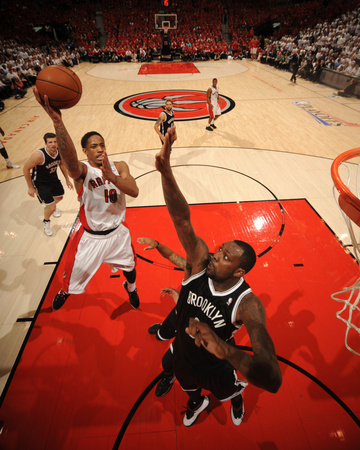 2014 NBA Playoffs Game 7: May 4, Brooklyn Nets vs Toronto Raptors - DeMar DeRozan Photo by Ron Turenne