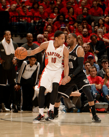 2014 NBA Playoffs Game 7: May 4, Brooklyn Nets vs Toronto Raptors - DeMar DeRozan, Marcus Thornton Photo by Ron Turenne