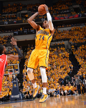2014 NBA Playoffs Game 7: May 3, Atlanta Hawks vs Indiana Pacers - Paul George Photo by Jesse D. Garrabrant