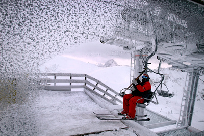 Skier on the Nebelhorn Photographic Print by Karl-Josef Hildenbrand