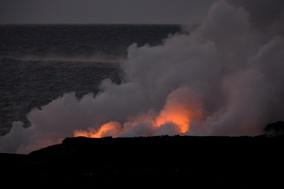 Volcanic Activity in Hawaii Photographic Print by Bruce Omori