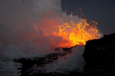 Littoral Explosions Photographic Print by Bruce Omori