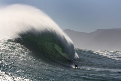 Big Wave Surfer Photographic Print by Nic Bothma