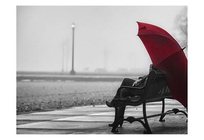 Red Umbrella 1 Kunst van Sandro De Carvalho
