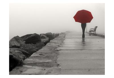 Umbrella Walk Posters van Sandro De Carvalho