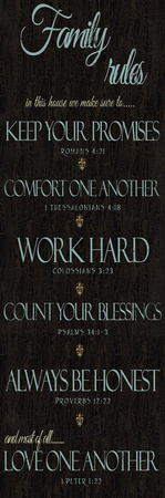 Family Rules Scriptures Prints by Taylor Greene