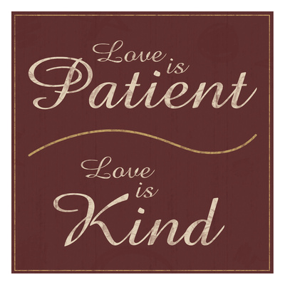 Love is Patient Prints by Lauren Gibbons