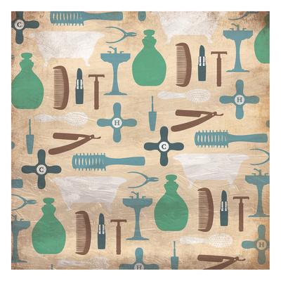 Bathroom Pattern Prints by Jace Grey