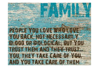 Family Grunge Prints by Diane Stimson