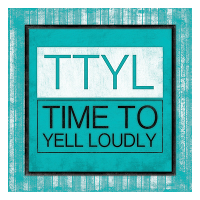 TTYL Bordered Prints by Jace Grey