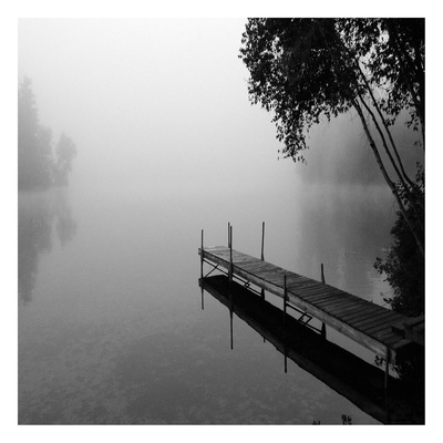 Foggy Dock 1 Poster by Suzanne Foschino