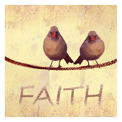 Bird Vine Faith Print by Lorraine Rossi