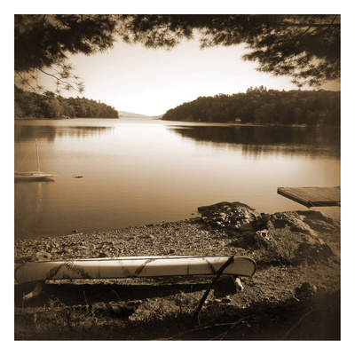 Canoe on Shore C Posters by Suzanne Foschino
