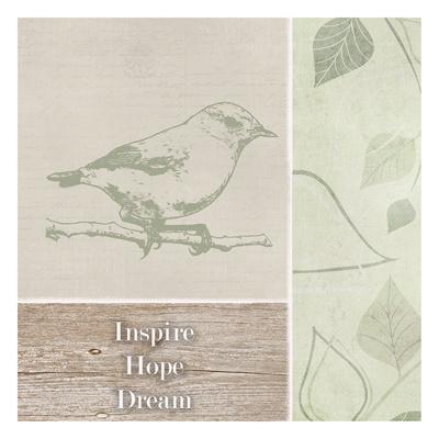 Inspire Hope Dream Bird Prints by Taylor Greene