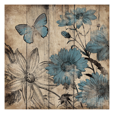 Wood Floral Small 4 Prints by Jace Grey