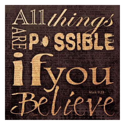 Believe Mark Prints by Carole Stevens
