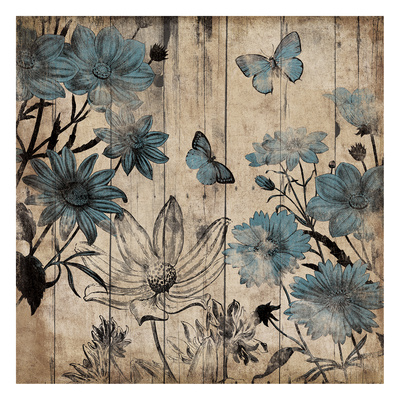 Wood Floral Mate Art by Jace Grey
