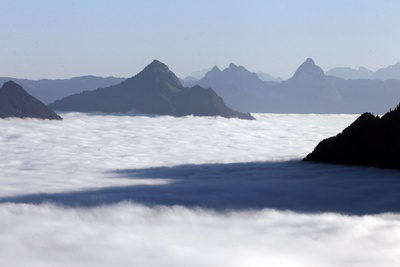 View of the Sea of Fog Photographic Print by Urs Flueeler