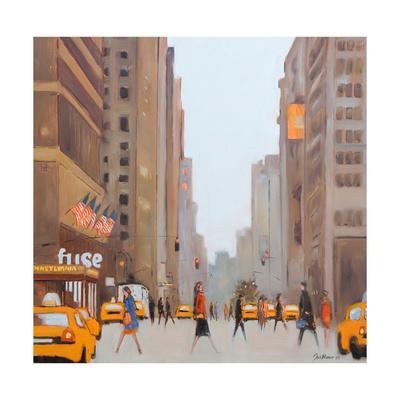 7th Avenue - New York Giclée-tryk af Jon Barker