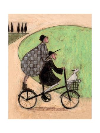 Double Decker Bike Giclee Print by Sam Toft