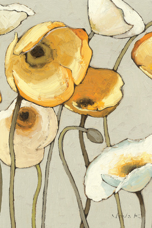 Jaune Gris II Crop Print by Shirley Novak