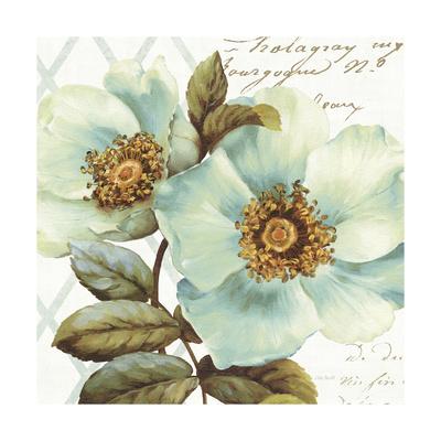 White Floral Bliss I Prints by Lisa Audit