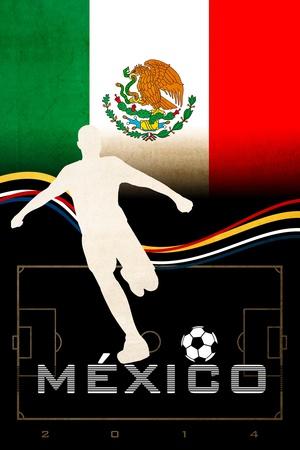 Brazil 2014 - Mexico Plakat