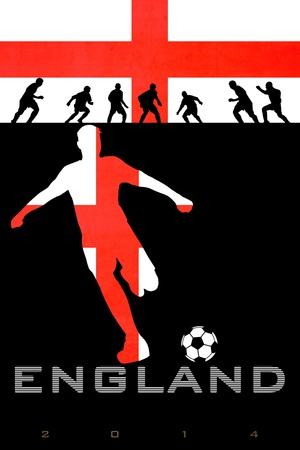 Brazil 2014 - England Posters