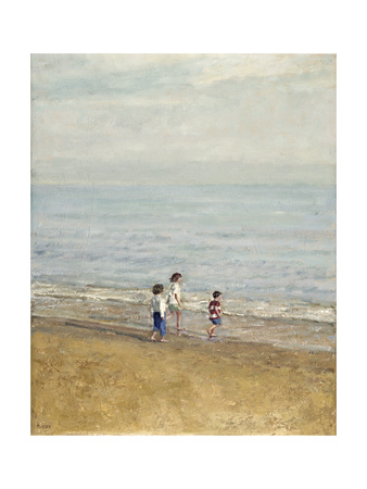 Games on the Beach Giclee Print by Alicia Grau