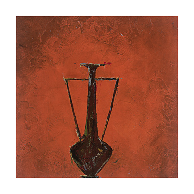 Burnt Orange Vase Giclee Print by Susan Gillette