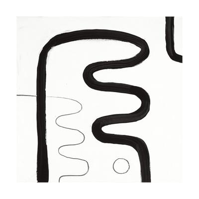 Black and White K Giclee Print by Franka Palek