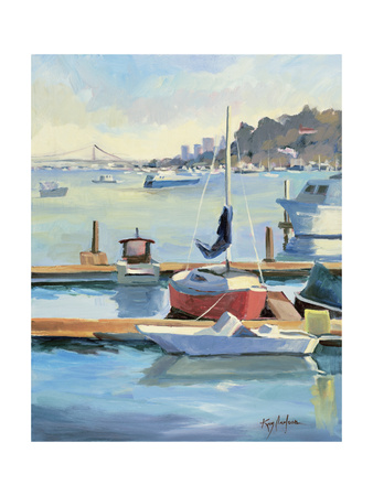 Sausalito Sunbow Giclee Print by Kay Carlson