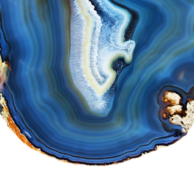 Cobalt Blue Agate A Photographic Print by  GI ArtLab