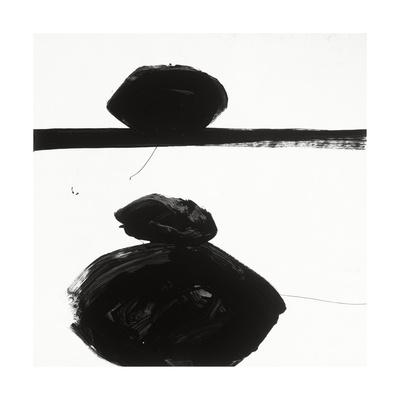 Black and White J Giclee Print by Franka Palek