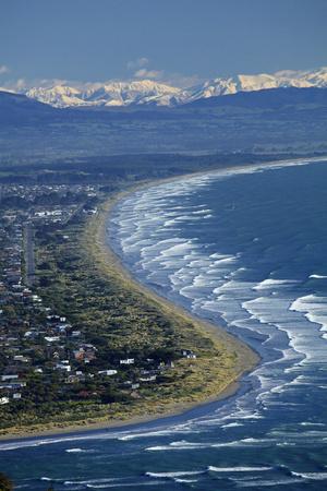 Avon and Heathcote Rivers, Christchurch, Canterbury, New Zealand. Photographic Print by David Wall