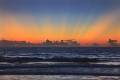 USA, Georgia, Tybee Island, Tybee Island beach at sunrise. Photographic Print by Joanne Wells