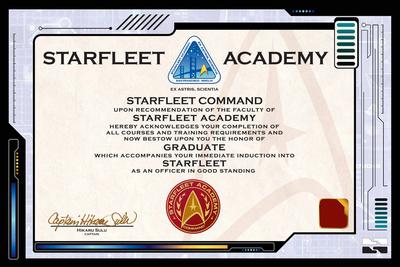 Star Trek: Starfleet Academy Certificate