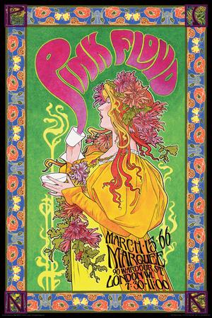 Pink Floyd Marquee '66 Kunstdruck