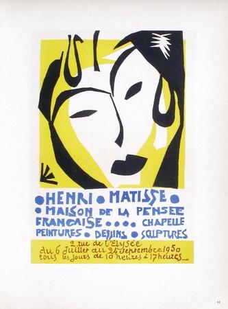 AF 1950 - Maison De La Pensée Française Samlertryk af Henri Matisse