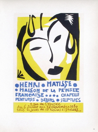 AF 1950 - Maison De La Pensée Française Collectable Print by Henri Matisse
