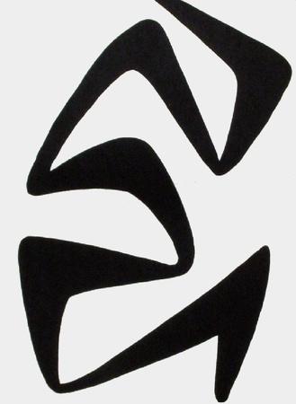 Derrier le Mirroir, no. 173: Composition IV Samlertryk af Alexander Calder