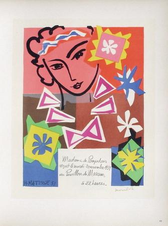 AF 1951 - Bal De L'Ecole Des Arts Décoratifs Samlertryk af Henri Matisse