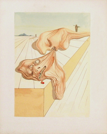 Divine Comedie, Enfer 30: Les hommes qui s'entre-dévorent Collectable Print by Salvador Dalí