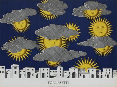 Sole di Capri Serigraph by Piero Fornasetti