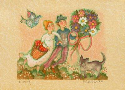 Les mariés II Limited Edition by Francoise Deberdt