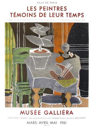 Expo 61 - Musée Galliéra Sammlerdrucke von Georges Braque