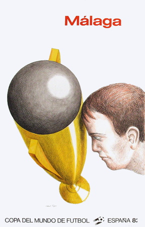 Coupe du Monde de Football 82 Collectable Print by Roland Topor