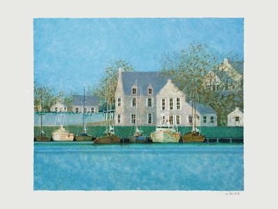 Le Port Du Guildo II Collectable Print by André Bourrié