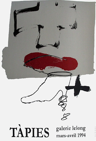 Expo Galerie Lelong 94 Collectable Print by Antoni Tapies